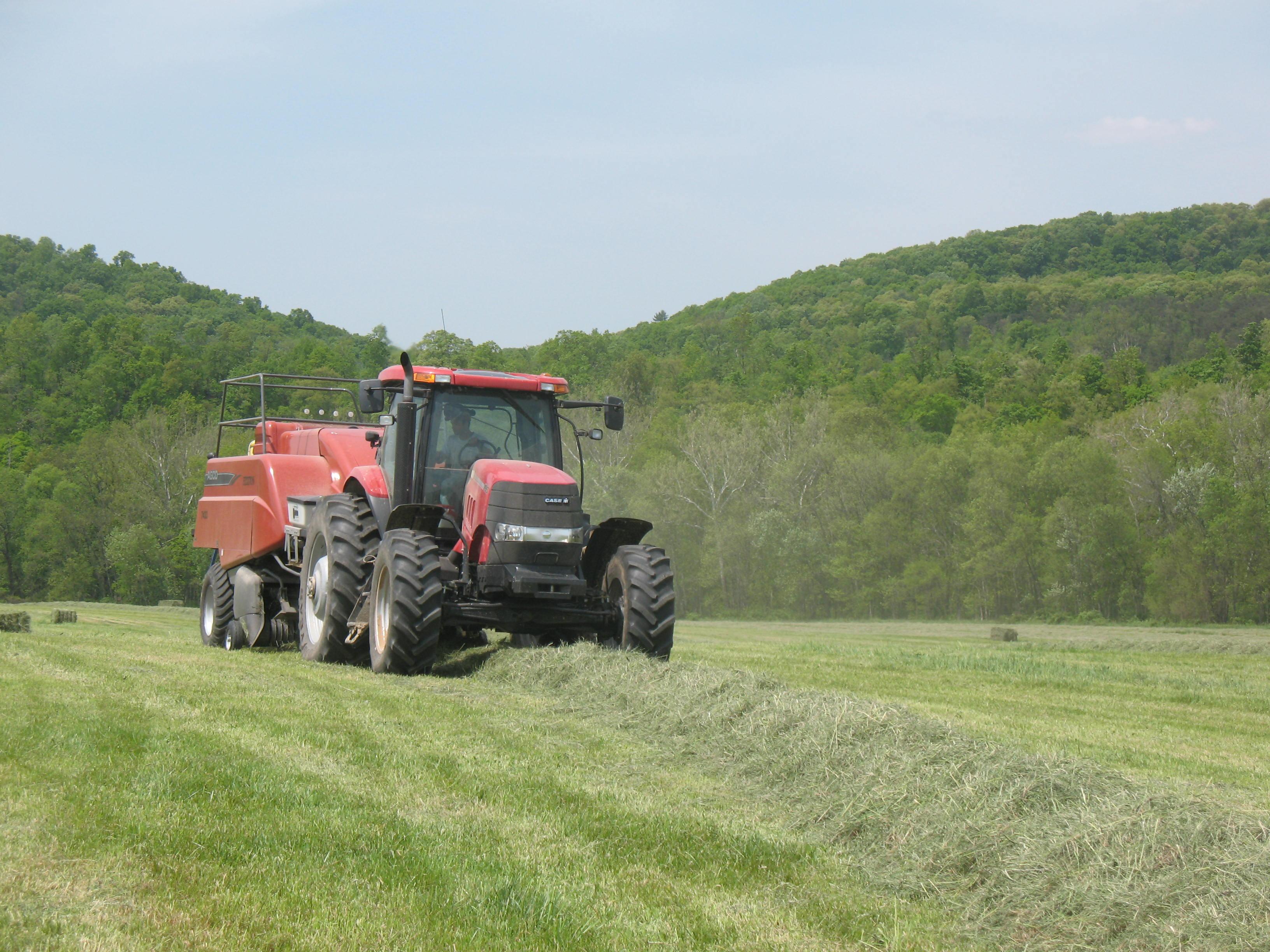 tractor in feild